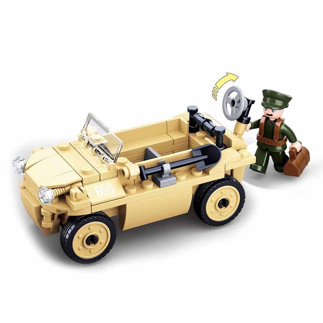 Klocki Wojsko Jeep VW Schwimmwagen