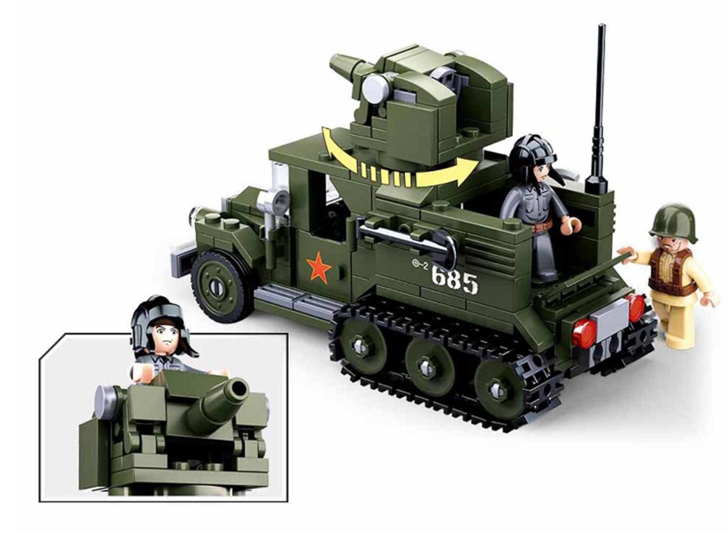 Klocki Wojsko Czołg Transporter Tomdorix