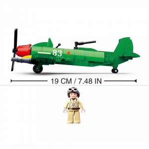 Klocki Wojsko Samolot Myśliwiec SPITFIRE TOMDORIX