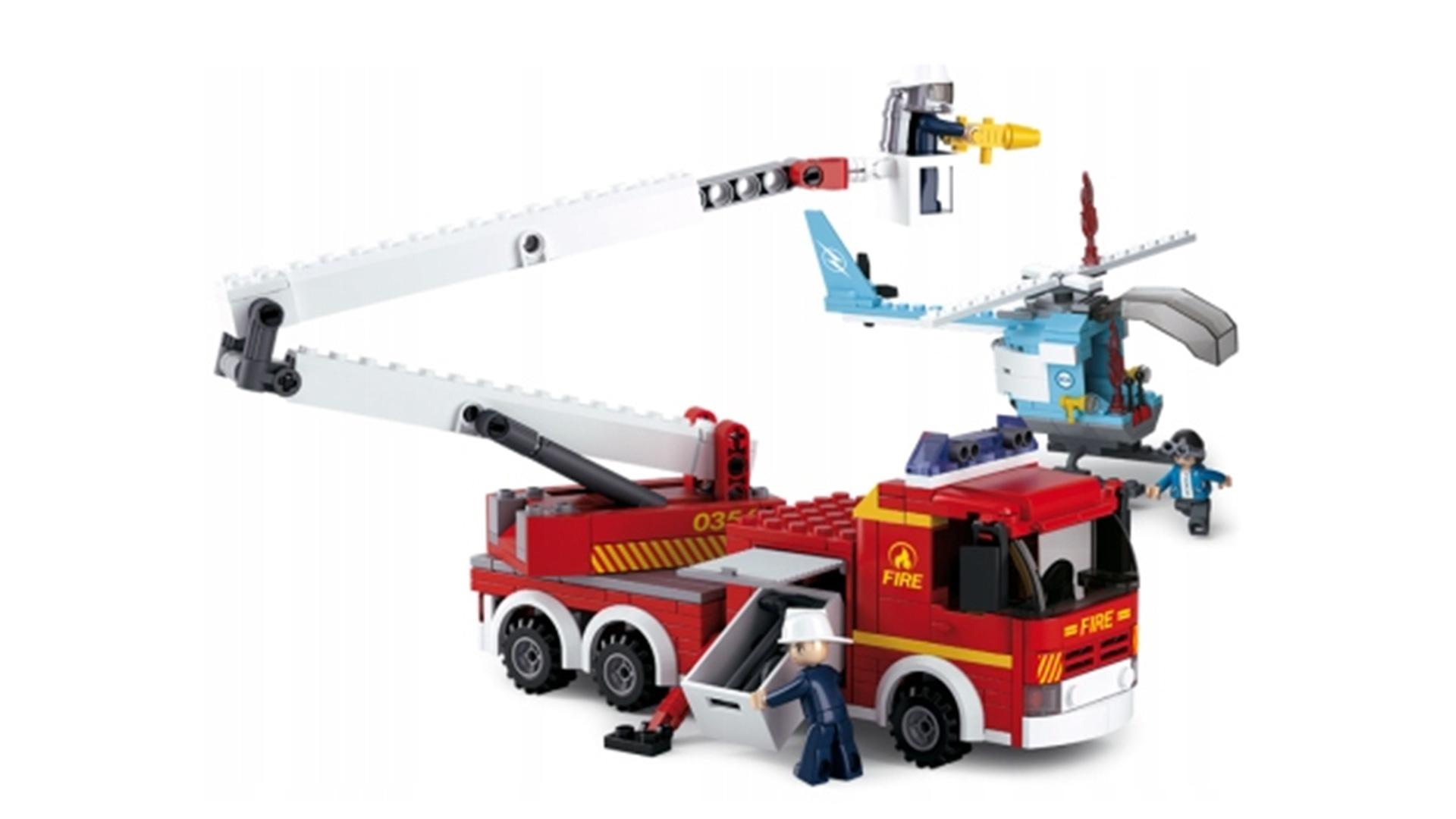 Klocki Miasto Straż Pożarna I Helikopter Tomdorix