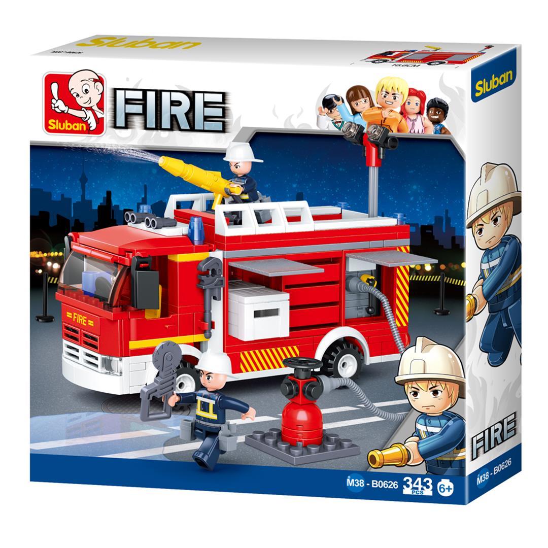 Klocki Miasto Straż Pożarna I Hydrant Tomdorix