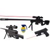 Karabin Snajperka Na Kulki z Laserem + Pistolet z Laserem + Granat TOMDORIX