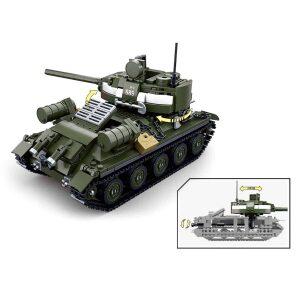 Klocki Wojsko Czołg IS-2/SU-100 TOMDORIX