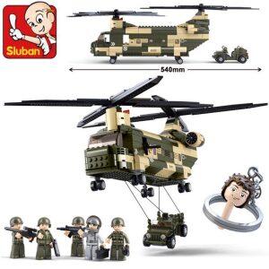 Klocki Helikopter Wojskowy Transportowy CH-47 Chinook TOMDORIX