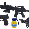 Karabin M4A1 Snajperka Na Kulki z Niebieską Latarką + Pistolet z Laserem + Granat TOMDORIX