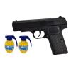 Pistolet Metalowy Na Kulki 6mm BODY 100% METAL V5 + 2x Granaty TOMDORIX