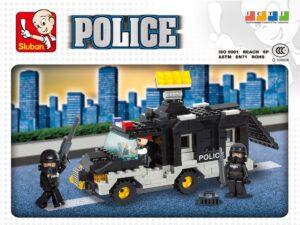 Klocki Miasto Policja Radiowóz Więźniarka SWAT TOMDORIX