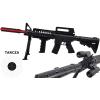 Karabin M4A1 Na Kulki 6mm Snajperka + Pistolet z Laserem + Granat TOMDORIX