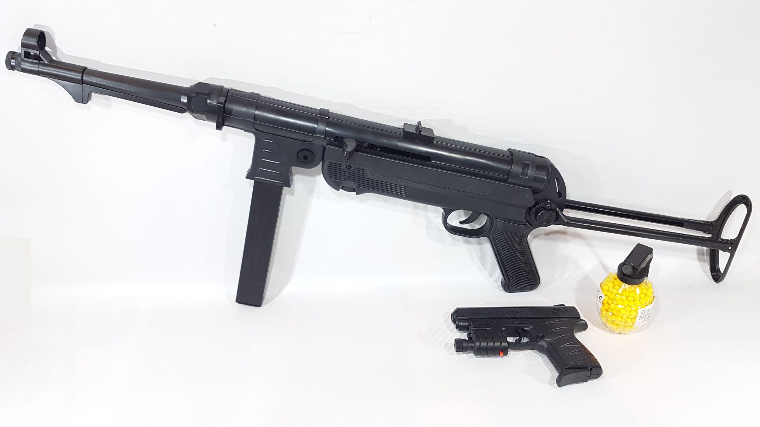 Mp 40 Schmeisser Karabin Na Kulki 6mm Pistolet Z Laserem Granat Tomdorix
