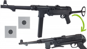 MP-40 SCHMEISSER Karabin Na Kulki 6mm Air Soft Gun TOMDORIX