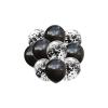 Balony Zestaw 10 szt. CZARNY Wraz z Konfetti 35 cm. TOMDORIX