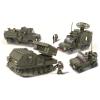 Klocki Wojsko - Wyrzutnia Rakiet + 3 Pojazdy Wojskowe 864el TOMDORIX