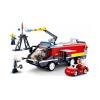 Klocki Miasto Lotniskowa Straż Pożarna + Pojazd Strażacki TOMDORIX