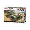 Klocki Wojsko JEEP WILLYS MB + Armata 143el TOMDORIX