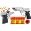 COLT Srebrny Hukowy Pistolet Metalowy Na Kapiszony TOMDORIX